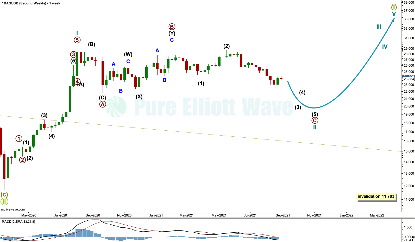 Silver weekly 2021